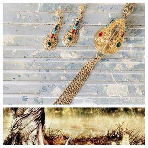 Vintage Necklace & Earring Set